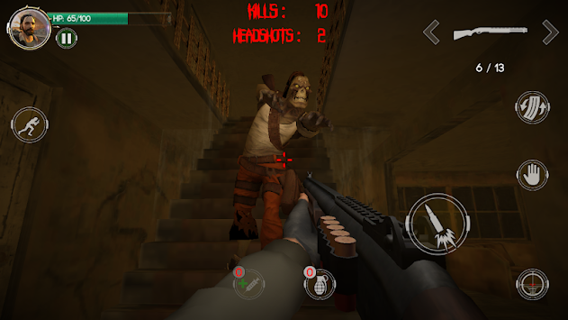The Zombie Butcher - 3D FPS Zombie Shooting Game apk screenshot