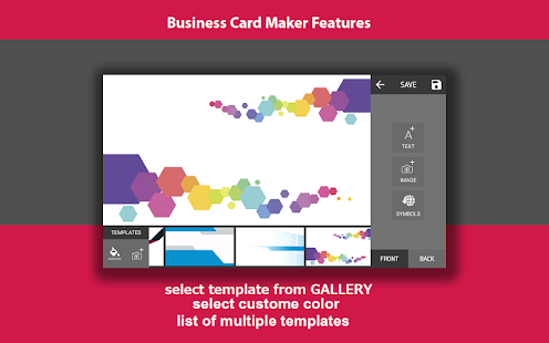 screenshot image - Business Card Generator