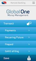 Screenshot of Capitec Remote Banking