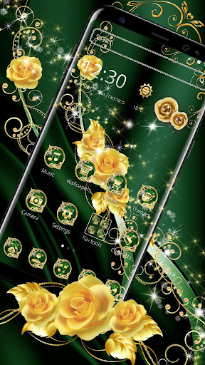 Elegant Green Silk Gold Theme hack tool