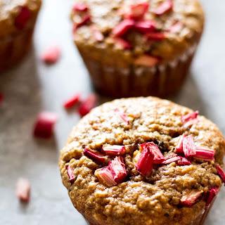 Gluten-Free Healthy Rhubarb Muffins.