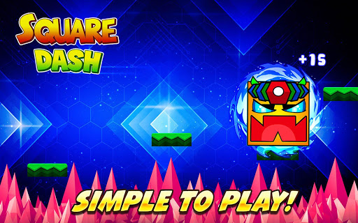 Square Dash: Jump Games, Geometry Word Free 1.0 screenshots 2