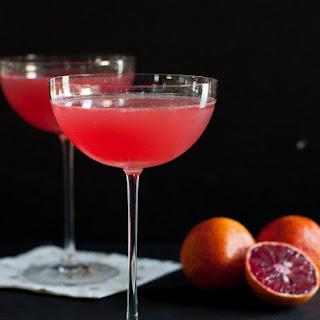 Blood Orange Vesper Martini.