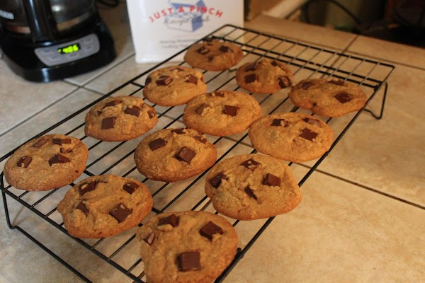 Let cool on cookie sheets for 5 minutes and carefully move to wire rack...