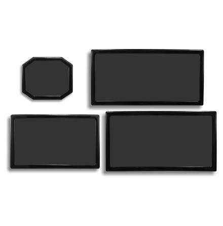 DEMCiflex magnetisk filtersett for Corsair 300R, sort
