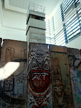 Photo: Real fragments of the Berlin Wall.