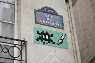 Photo: Street art - Space invaders -Paris Ve -rue de la Huchette