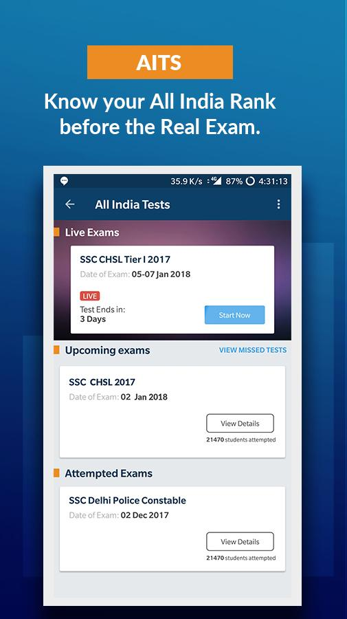 Current Affairs GK - SSC IAS IBPS Exam Prep Tests- screenshot