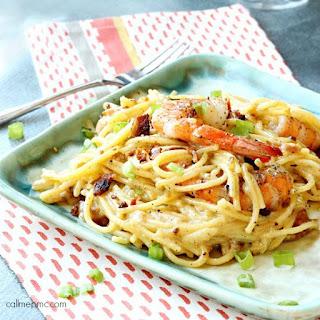 Shrimp Spaghetti Carbonara + Wine Pairing.