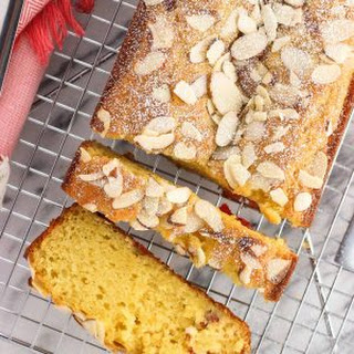 Cherry Almond Loaf Cake.