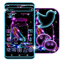 Neon Particle Feather Launcher Theme icon