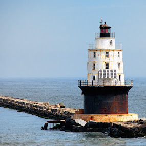 Lewes Lighthouse by Damon Hensley - Buildings & Architecture Public & Historical ( lighthouse, delaware, lewes )