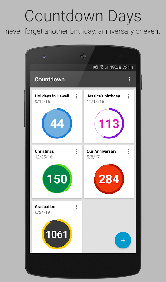 countdown days app widget android apps on google play. Black Bedroom Furniture Sets. Home Design Ideas