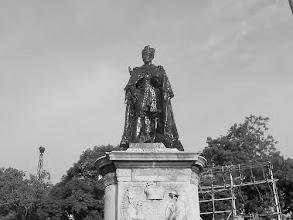 Photo: King George statue - Flower bazaar police station -Sowcarpet