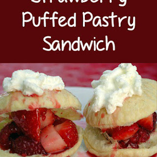 Strawberry Puffed Pastry Sandwich.