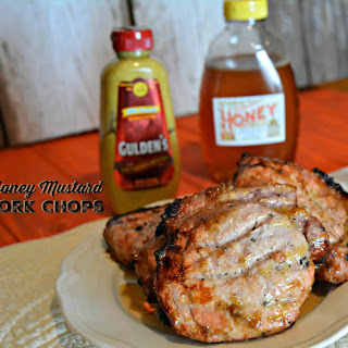 Easy Honey Mustard Pork Chops #HunkOfMeatMonday