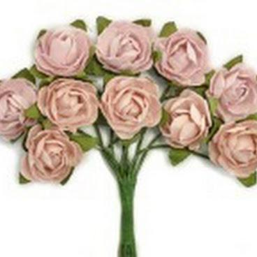KC-Mini Paper Blooms(Dusty Pink)