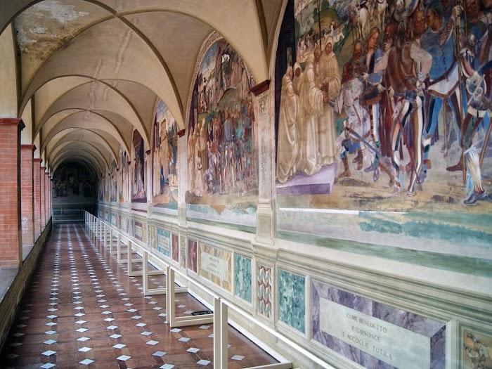 Luca Signorelli, ciclo di affreschi nel Chiostro Grande dell'Abbazia di Monte Oliveto Maggiore