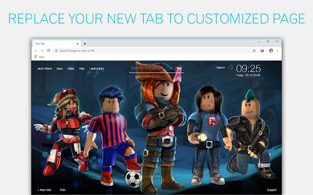 Roblox Wallpapers HD New Tab by freeaddon.com