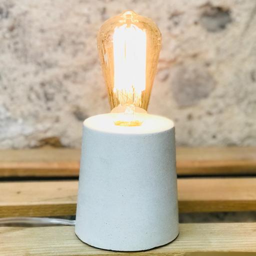 lampe béton blanc design fait-main création made in france
