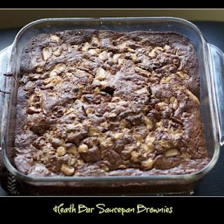 Heath Bar Saucepan Brownies