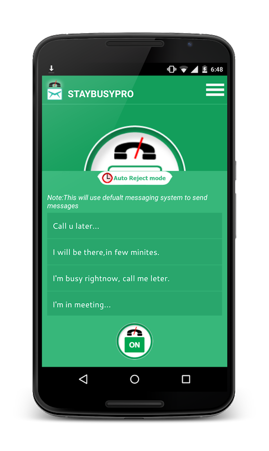 StayBusy PRO -  Auto SMS Reply- screenshot