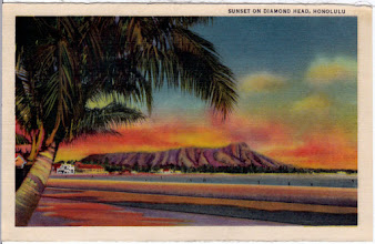 Photo: 1930's souvenir picture from a Curt Teich set called Aloha Hawaiian Islands. The colours are quite vibrant still. The picture is about 9cm x 13 cm....VERY TINY.
