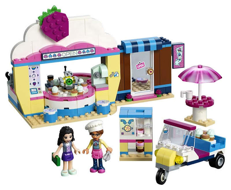 Contenido de Lego® 41366 Cafetería Cupcake de Olivia