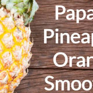 Orangey Pine-Mango Smoothie.