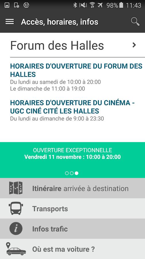 forum des halles android apps on google play. Black Bedroom Furniture Sets. Home Design Ideas