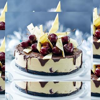 Double Chocolate Cherry Cheesecake.