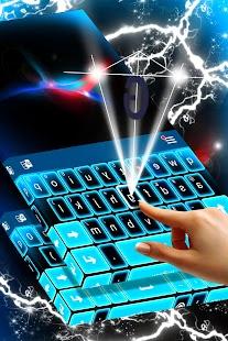 Modré LED Keyboard - náhled