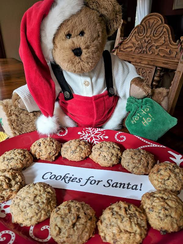 Bourbon Soaked Raisin Oatmeal Cookies, You Know That's What Santa Wants!