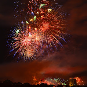 All the Colours by Kamila Romanowska - Abstract Fire & Fireworks ( new year, australia, fireworks, nye, sydney,  )