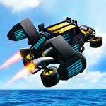 Flying Stunt Car Simulator 3D Icon