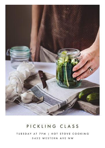 Pickling Class - Photo Card Template