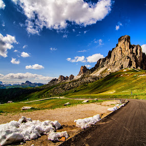 Coming back home. by Mattia Bonavida - Landscapes Mountains & Hills ( clouds, scape, colors, rocky, land, way, attraction, amazing, sky, nature, snow, summer, dolomites )