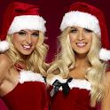 hot santa girl live wallpaper icon
