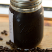 Cold Brewed Iced Coffee in a Mason Jar