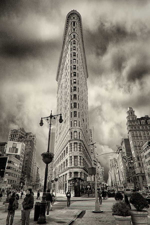 Flatiron Building by Craig Colvin - Buildings & Architecture Other Exteriors ( building, bw, new york, flatiron, city )