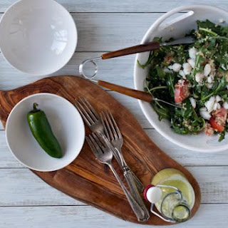 Crab And Spinach Salad With Jalapeño Vinaigrette.