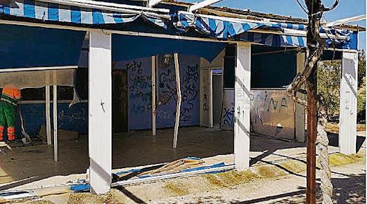 Más de 15.000 € para arreglar los destrozos en un quiosco de El Toyo