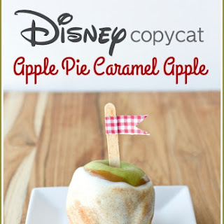 Disney Copycat Apple Pie Caramel Apples