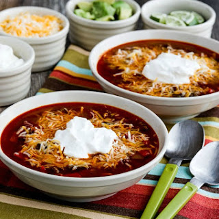 Instant Pot (or Stovetop) Low-Carb Taco Soup.