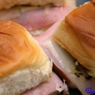 Easy Ham and Cheese Appetizer Sandwiches.