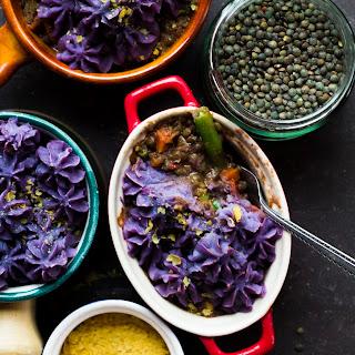 Lentil and Purple Sweet Potato Shepherds Pie