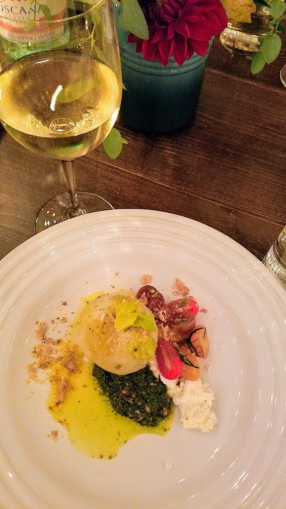 Feast Portland 2017 Bon Appétit Hot Ten Dinner, Hoja Santa-Wrapped Salt-Baked Turnip with Heirloom Tomatoes, Shiso and Toasted Walnuts by Josef Centeno of Bar Amá