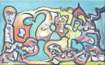"""Photo: """"Clef du paradis"""". Huile sur toile, 35x22cm, format horizontal."""