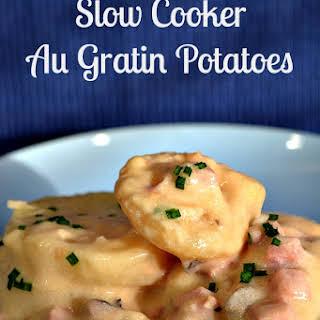 Slow Cooker Au Gratin Potatoes.