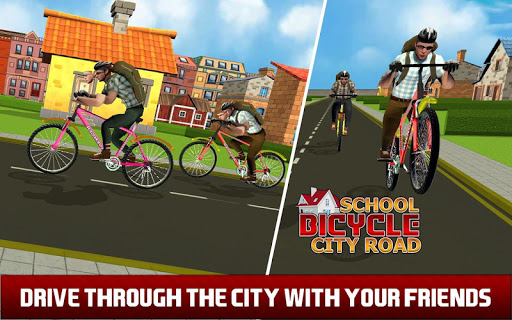 High School Cycling Ride – Bicycle Race game (apk) free